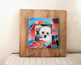 upcycled wooden frame