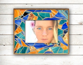 nautical stained glass frame