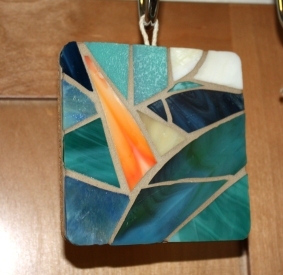 stained glass beach coasters