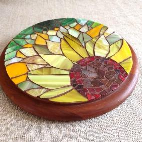 sunflower mosaic trivet